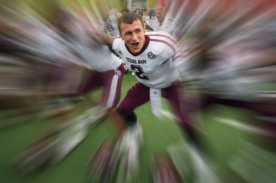 Johnny Manziel, Texas A&M's freshman star quarterback who's earning mention as a Heisman Trophy candidate, rose to prominence as a human highlight film at Kerrville's Tivy High School. Smiley N. Pool/Houston Chronicle