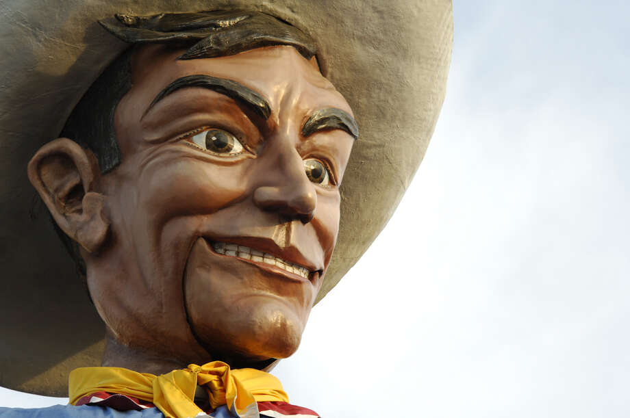 Big Tex is 52-feet tall — and wears a 75-gallon Stetson. Photo: Kevin Brown, Courtesy Photo / 2006 Kevin Brown