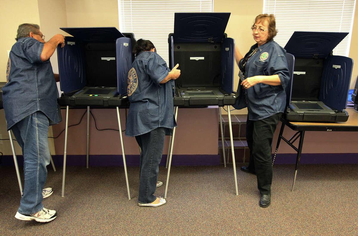 Precinct 1 Office 3505 S. Pleasanton Road Tuesday voters: 266Cumulative: 2,959