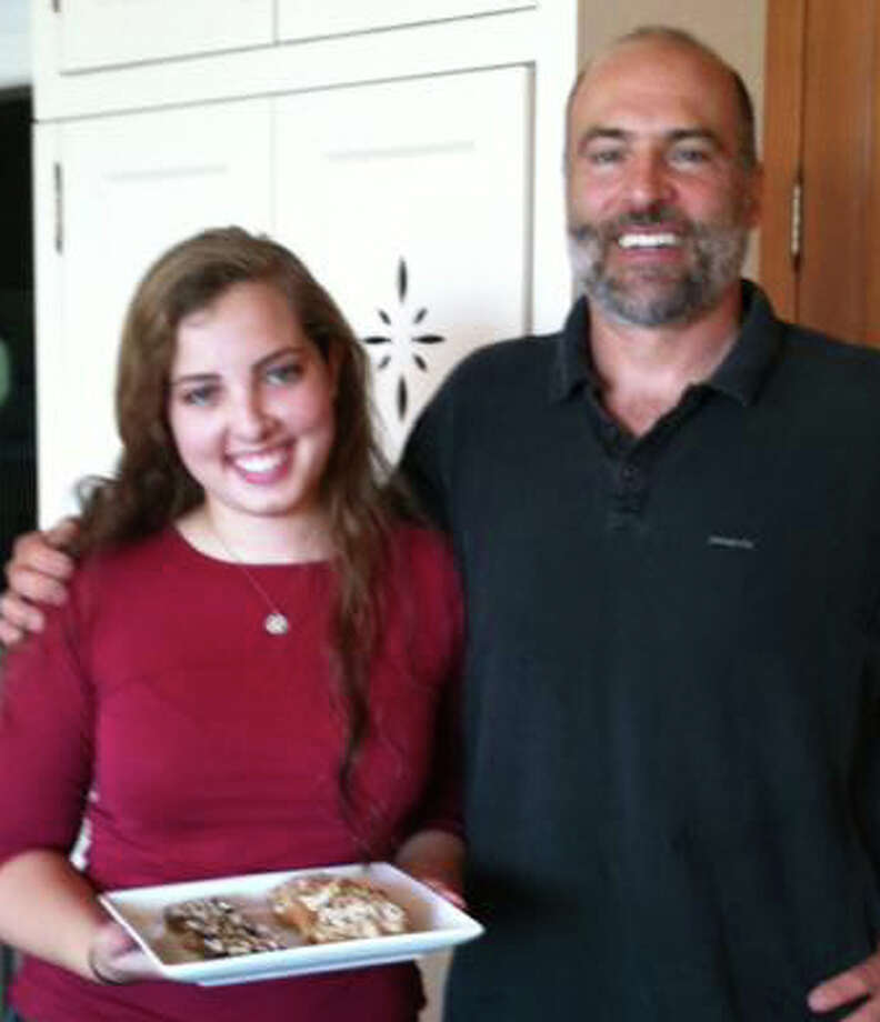 Staples High School senior Amelia Green recently published a cookbook of gluten-free recipes that she crafted for her father, Bill Green, who was diagnosed with a gluten sensitivity. Photo: Patti Woods / Fairfield Citizen contributed