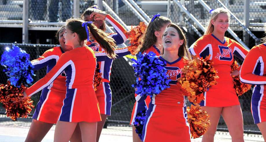 Danbury High School plays Westhill High School at Danbury Saturday, Oct. 20, 2012. Photo: Michael Duffy