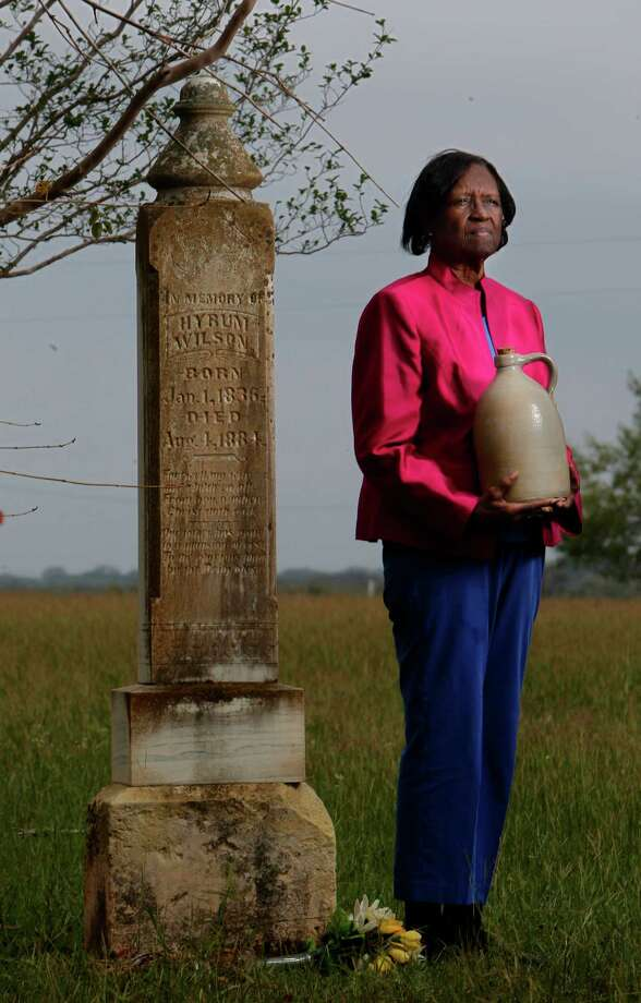 LaVerne Britt, whose great-great-grandfather co-founded H. Wilson & Co., was middle-aged before she learned that the pottery she grew up with was valuable. Photo: Mayra Beltran / © 2012 Houston Chronicle