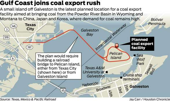Gulf coast joins export coal rush houston chronicle for Fishing spots in houston