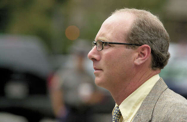 Tommy Skakel, the older brother of Michael Skakel, leaving the Norwalk courthouse during Michael's murder trial in 2002. Before Michael was charged, Tommy was considered the lead suspect in the 1975 murder of Martha Moxley, whom both brothers had a crush on. Tommy, who was 17 at the time of her death, was the last person seen with Moxley the night she was murdered. Photo: Mel Greer, GT