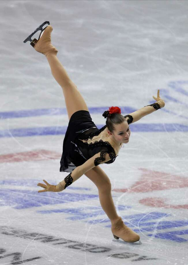 Russia's Adelina Sotnikova skates during the ice dance short program. Photo: AP