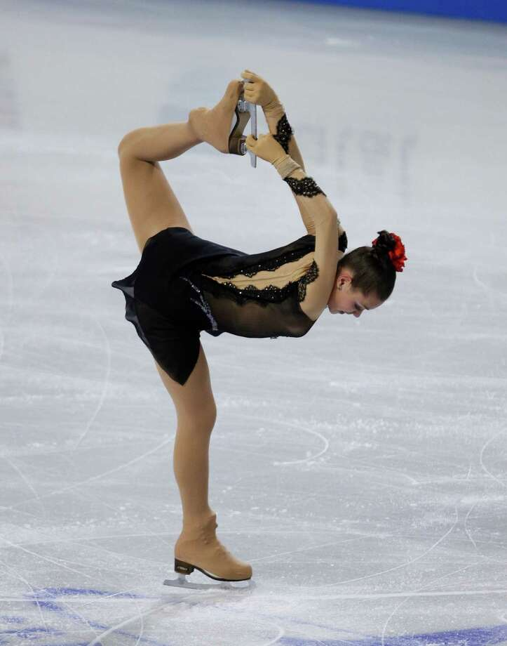Russia's Adelina Sotnikova skates during the ice dance short program. Photo: AP