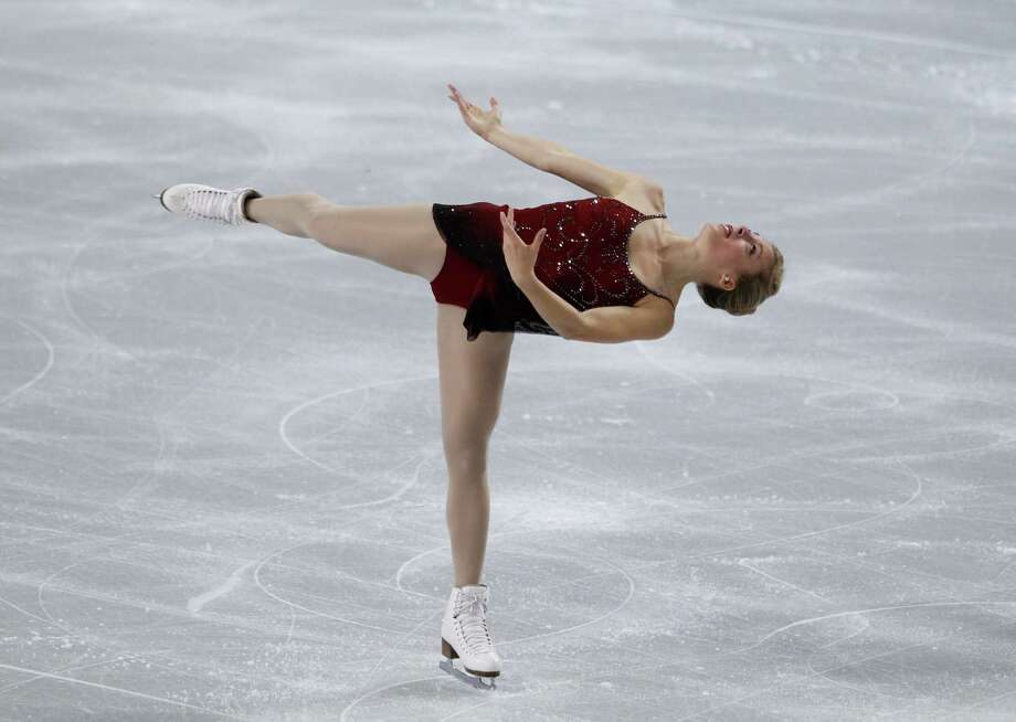 Ashley Wagner, of the United States, skates during the ice dance short program. Photo: AP
