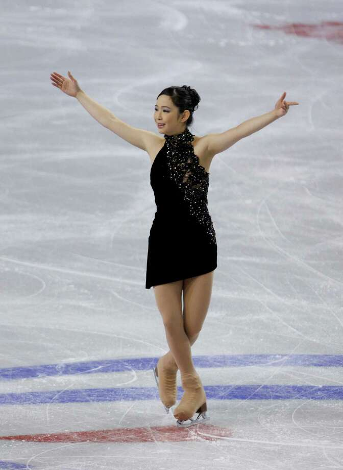 skates during the ice dance short program. Photo: AP