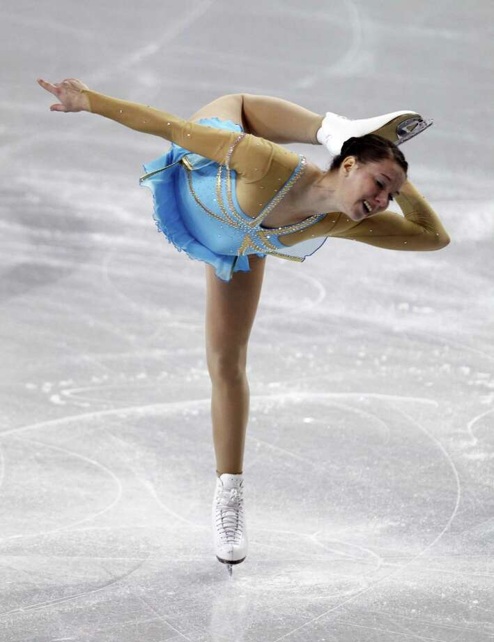 Germany's Sarah Hecken performs during the ladies short program. Photo: AP