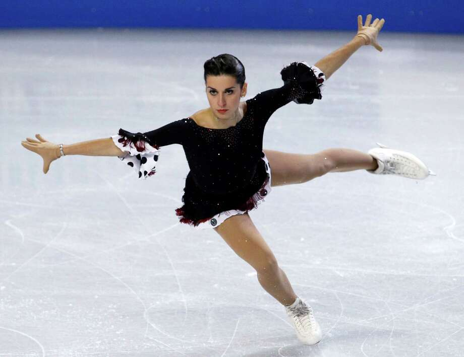 Italy's Valentina Marchei skates during the ice dance short program. Photo: AP