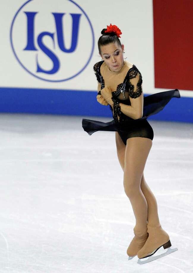 Russia's Adelina Sotnikova skates during the ladies short program. Photo: AP