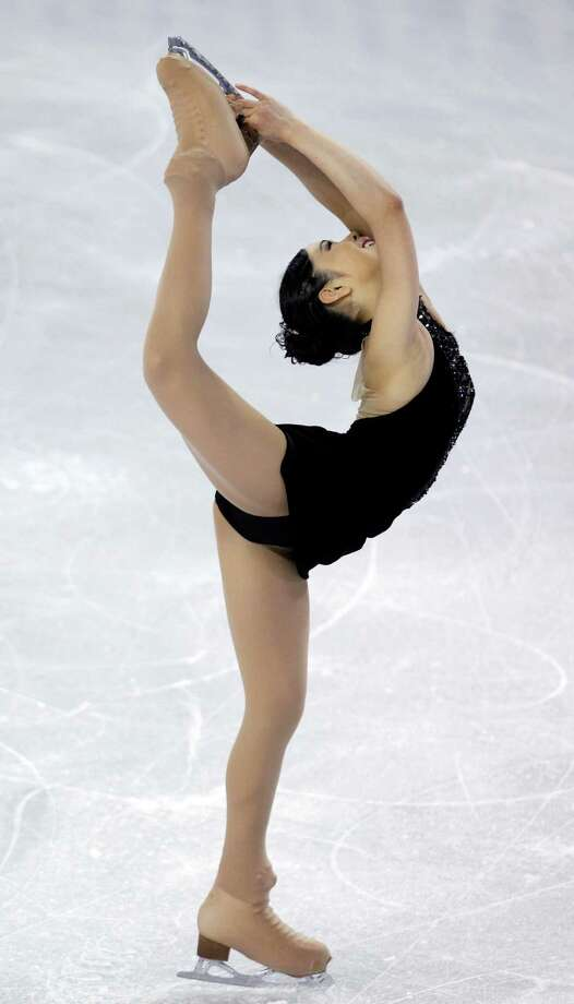 Japan's Haruka Imai skates during the ladies short program. Photo: AP