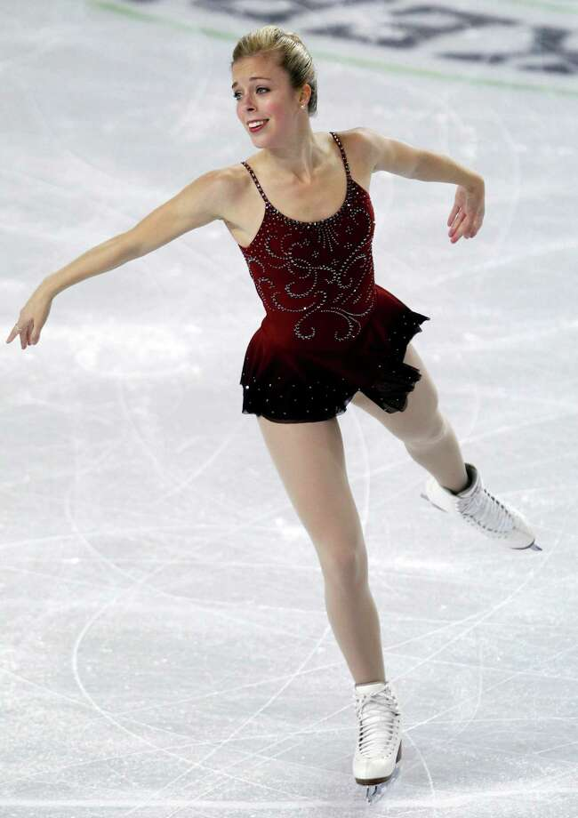 Ashley Wagner skates during the ladies short program. Photo: AP