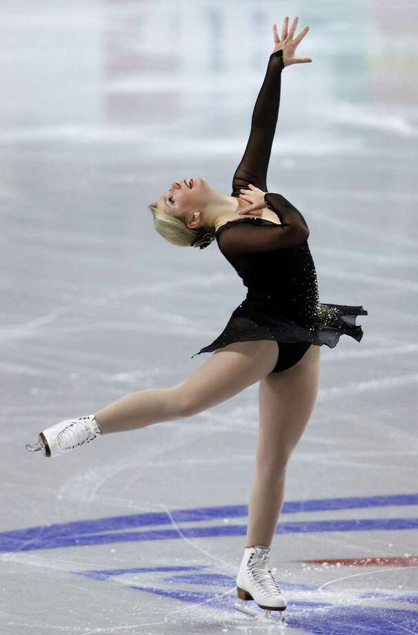 Rachel Flatt, of the United States, performs during the ladies' short program. Photo: AP