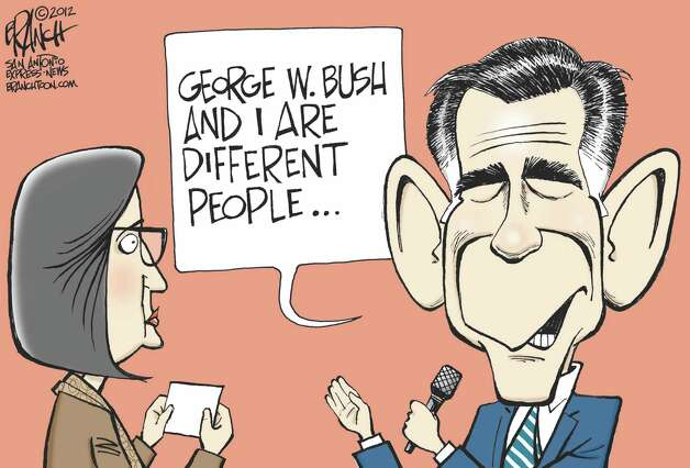George W. Bush and I are different people ... Photo: John Branch, Branchtoon.com