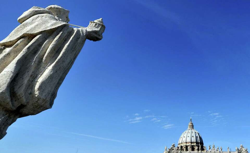 Partial view of the St. Peter's basilica as Pope Benedict XVI gives a special mass to name seven new