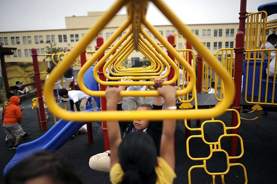 San Francisco's Sanchez Elementary is among schools that use the easier test disproportionately. Photo: Michael Short, Special To The Chronicle
