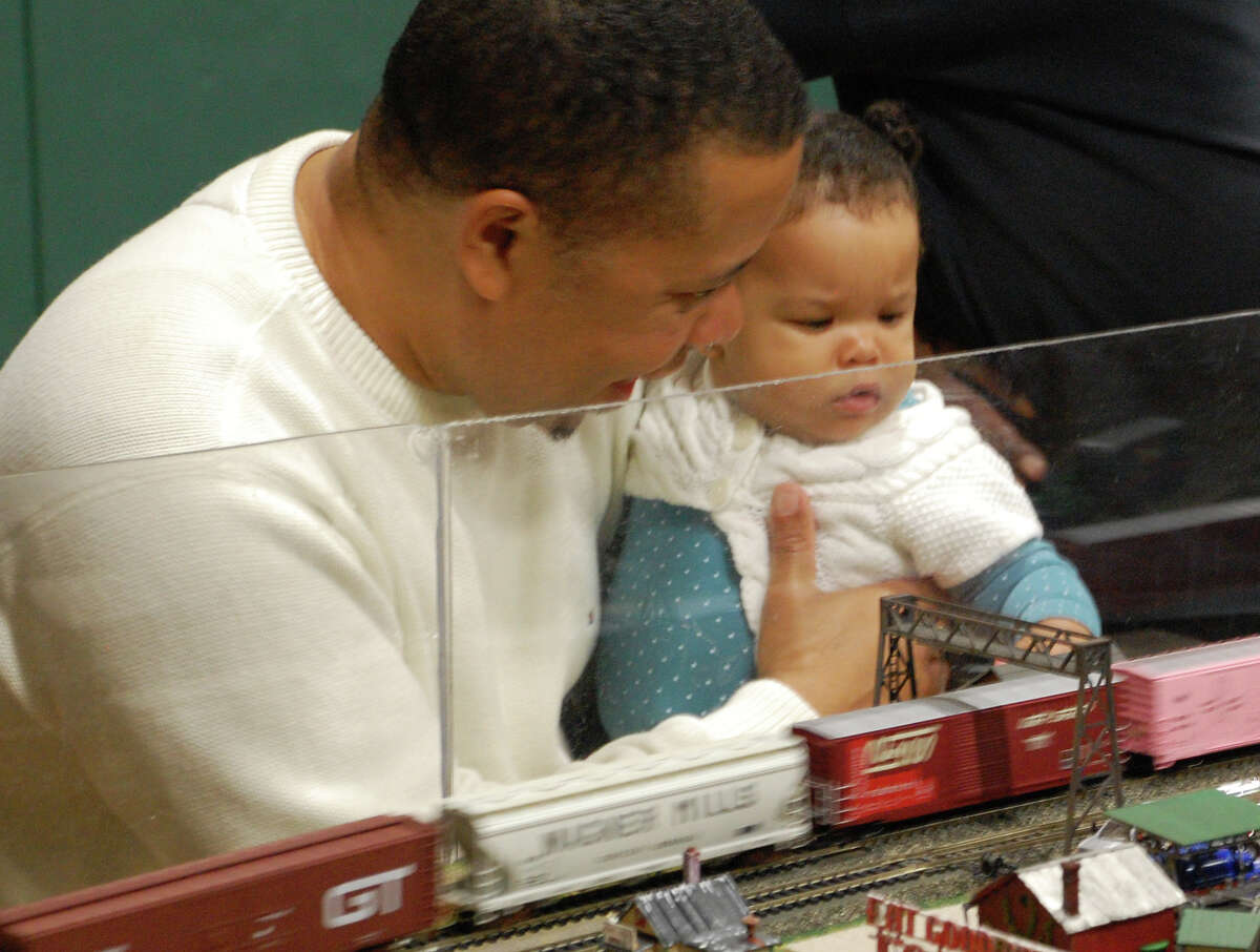 Young and old alike were entranced by the model train layouts Sunday at the annual show staged by the Housatonic Model Railway Club at Fairfield Ludlowe High School.