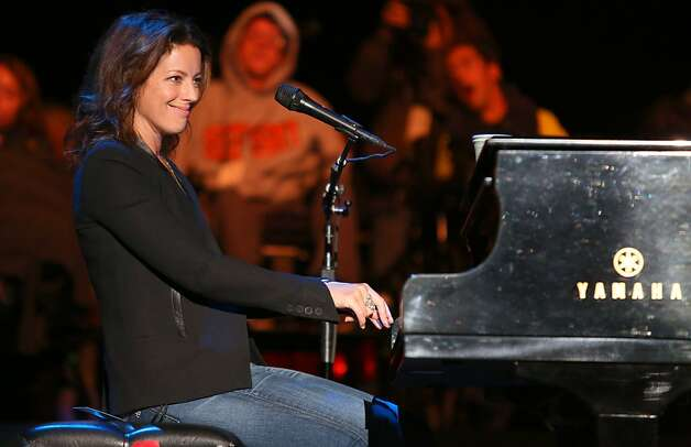 Sarah McLachlan performs at the Bridge School Benefit Concert at the Shoreline Amphitheatre on Saturday, Oct. 20, 2012, in Mountain View, Calif. (Photo by Barry Brecheisen/Invision/AP) Photo: Barry Brecheisen, Associated Press