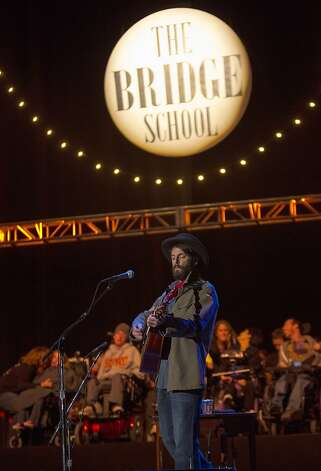 Ray Lamontagne performs at the Bridge School Benefit Concert at the Shoreline Amphitheatre on Saturday, Oct. 20, 2012, in Mountain View, Calif. (Photo by Barry Brecheisen/Invision/AP) Photo: Barry Brecheisen, Associated Press