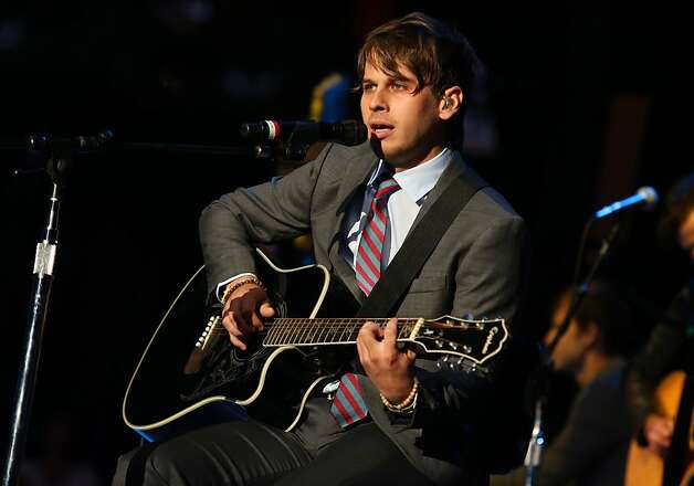 Mark Foster of Foster the People performs at the Bridge School Benefit Concert at the Shoreline Amphitheatre on Saturday, Oct. 20, 2012, in Mountain View, Calif. (Photo by Barry Brecheisen/Invision/AP) Photo: Barry Brecheisen, Associated Press