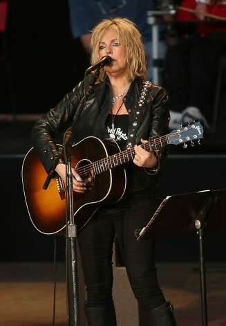 Lucinda Williams performs at the Bridge School Benefit Concert at the Shoreline Amphitheatre on Saturday, Oct. 20, 2012, in Mountain View, Calif. (Photo by Barry Brecheisen/Invision/AP) Photo: Barry Brecheisen, Associated Press