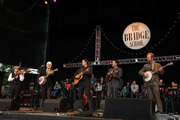 Steve Martin and the Steep Canyon Rangers perform at the Shoreline Amphitheatre on Saturday, Oct. 20, 2012, in Mountain View, Calif. (Photo by Barry Brecheisen/Invision/AP) Photo: Barry Brecheisen, Associated Press