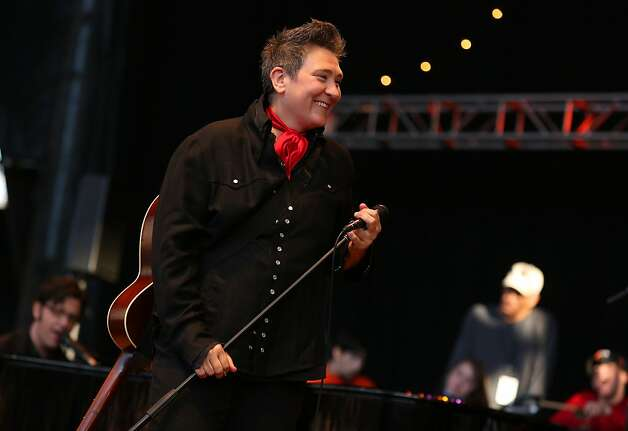 k.d. lang performs at the Bridge School Benefit Concert at the Shoreline Amphitheatre on Saturday, Oct. 20, 2012, in Mountain View, Calif. (Photo by Barry Brecheisen/Invision/AP) Photo: Barry Brecheisen, Associated Press