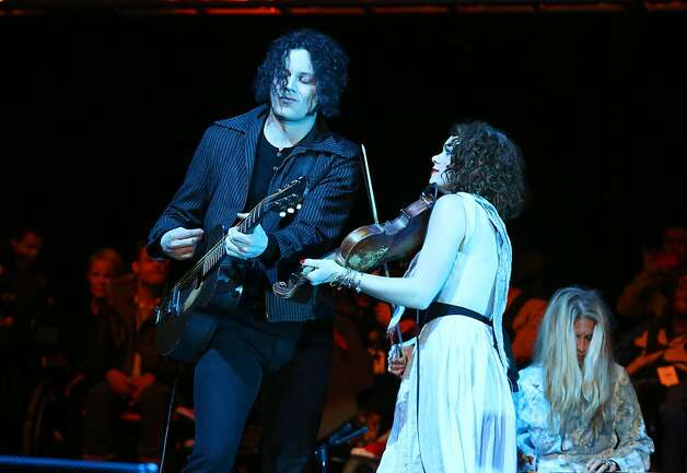 Jack White performs at the Bridge School Benefit Concert at the Shoreline Amphitheatre on Saturday, Oct. 20, 2012, in Mountain View, Calif. (Photo by Barry Brecheisen/Invision/AP) Photo: Barry Brecheisen, Associated Press