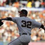 Giants' pitcher Ryan Vogelsong throws in the first inning during the NLCS game 6 at AT&T Park in San Francisco, Calif., on Sunday, Oct. 21, 2012.