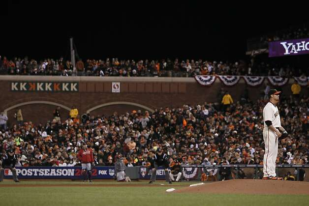 Giants' pitcher Ryan Vogelsong threw 8 strikeouts during game 6 of the NLCS at AT&T Park on Sunday, Oct. 21, 2012 in San Francisco, Calif. Photo: Michael Macor, The Chronicle