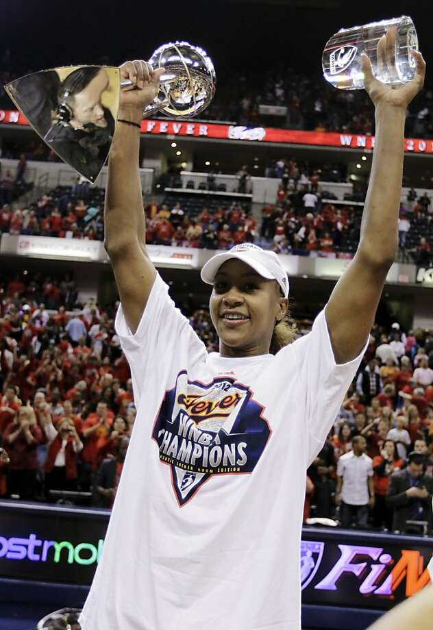 Indiana's Tamika Catchings added a WNBA finals MVP award to her collection of hardware. Photo: Michael Conroy, Associated Press