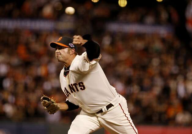 Jeremy Affeldt pitched in the eighth inning. The San Francisco Giants defeated the St. Louis Cardinals 6-1 to tie up the NLCS series at AT&T park in San Francisco, Calif. Sunday October 21, 2012. Photo: Brant Ward, The Chronicle