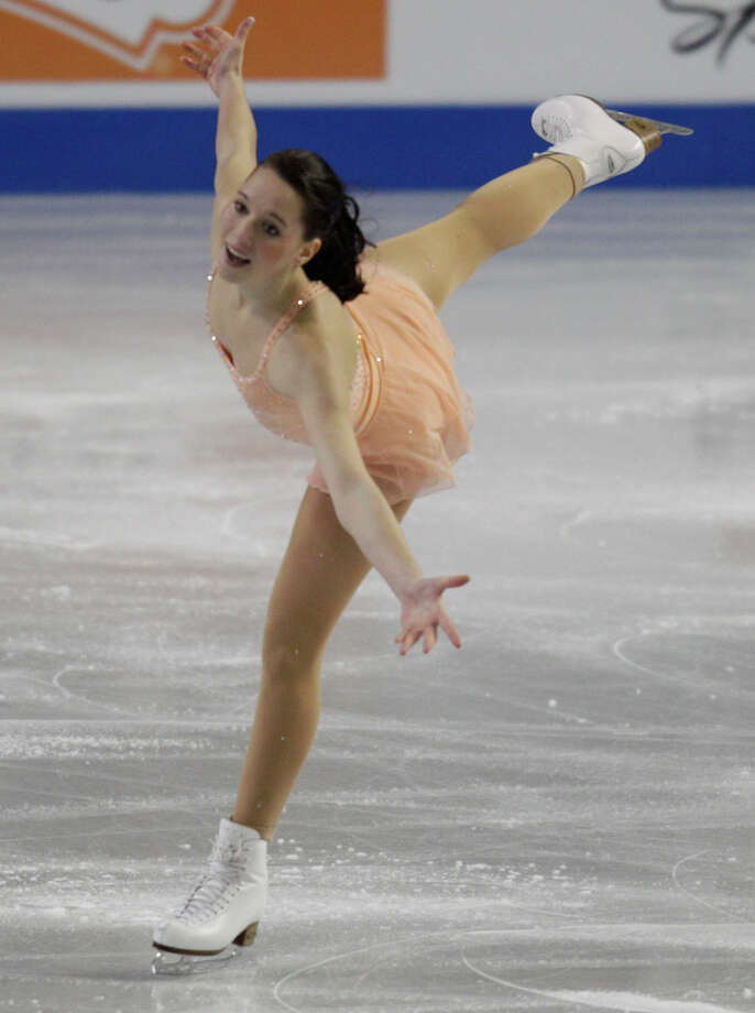 Germany's Sarah Hecken competes. Photo: AP