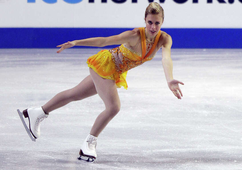 Ashley Wagner performs in her first-place performance in the ladies free event.