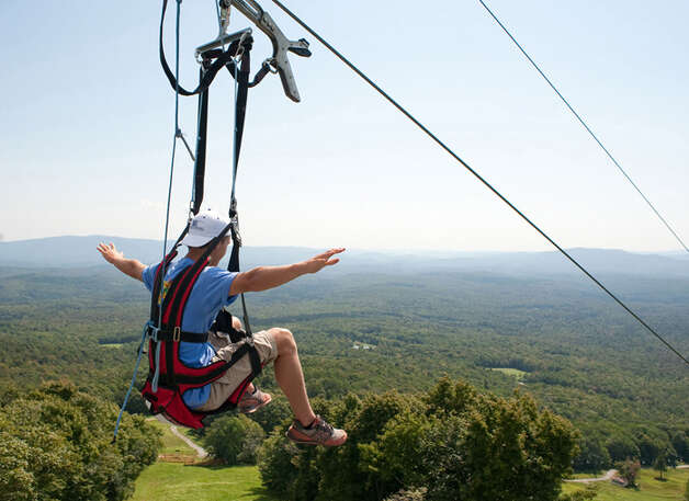 9: Go zip lining Photo: AP / © Hubert Schriebl