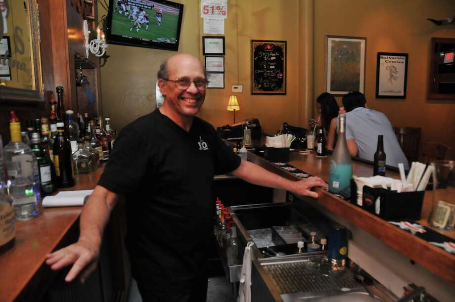 David Gentle is working the bar at J&O's cantina.