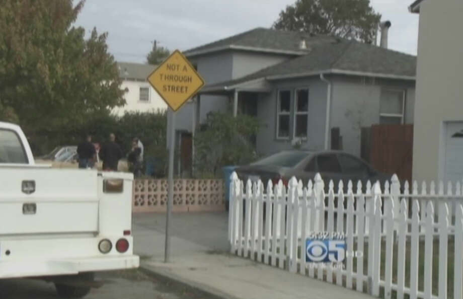 Vallejo officers responded Sunday morning to a home on Alameda Drive on a report that two men were arguing and trying to burn their house down. Photo: CBS San Francisco
