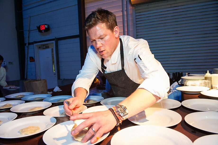 Foodies came from far and wide to show their hearts were bigger than their appetites at the San Francisco and Marin Food Banks' 25th anniversary gala on Saturday. Food Network star chef Tyler Florence, above, was one of 25 chefs who created three-course meals for the more than 450 Bay Area supporters who turned out to raise more than $1 million for the organization's programs. Each year, the Food Bank serves more than 45 million pounds of food — enough for more than 100,000 meals every day. Photo: Drew Altizer Photography
