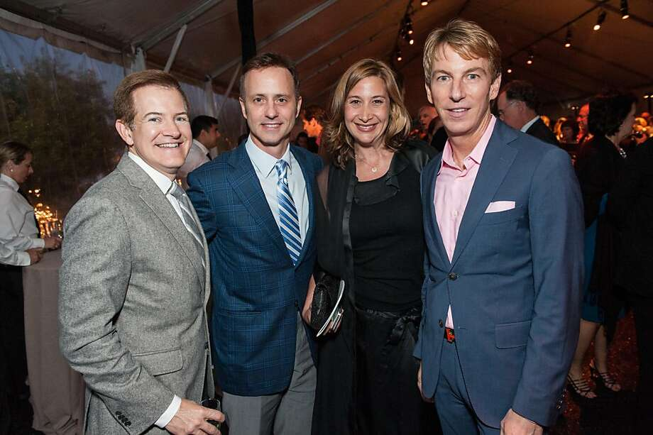 Trent Norris, left, Olympic ice skating champion Brian Boitano, Michele Ronsen and Banana Republic President Jack Calhoun. Photo: Drew Altizer Photography