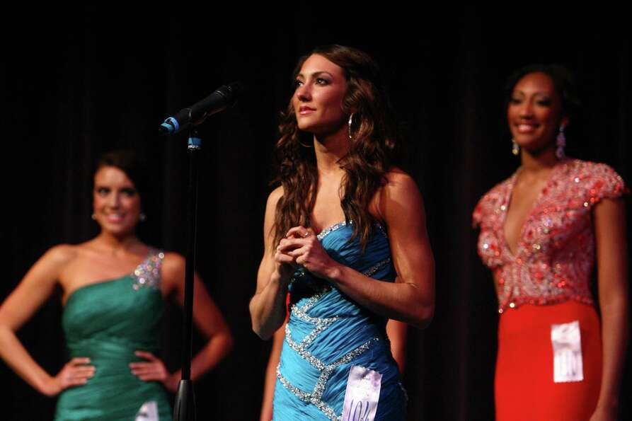 Miss Eastside USA Whitney Young answers a question during the Miss Washington USA and Miss Teen Wash