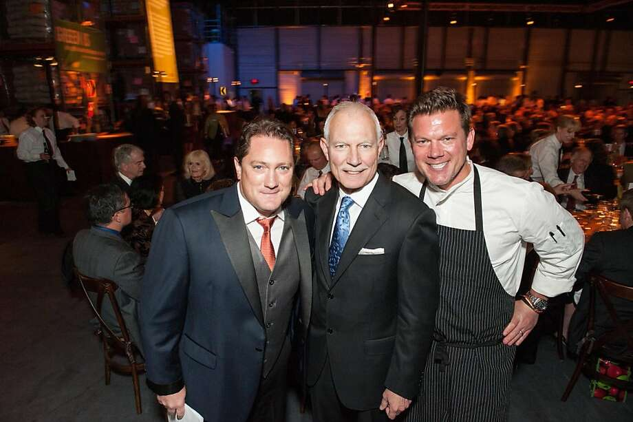 CBS 5 Eye on The Bay host Liam Mayclem, left, with Paul Ash and chef Tyler Florence. Photo: Drew Altizer Photography