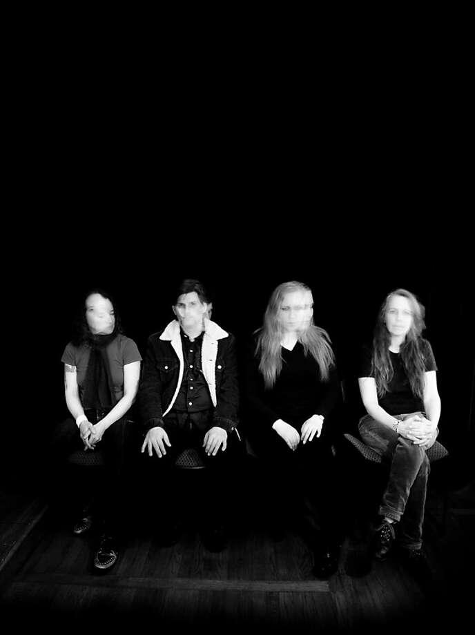 Earth: Angelina Baldoz (left), Dylan Carlson, Adrienne Davies and Lori Goldston. Photo: Sarah Barrick