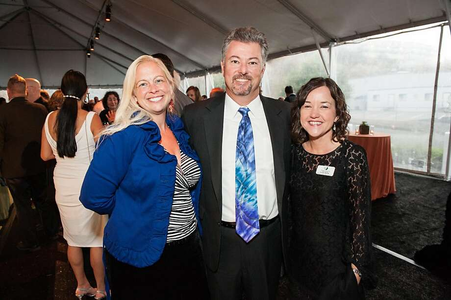Kerry Bortel, left, with Aaron Bortel and Leslie Bacho. Photo: Drew Altizer Photography