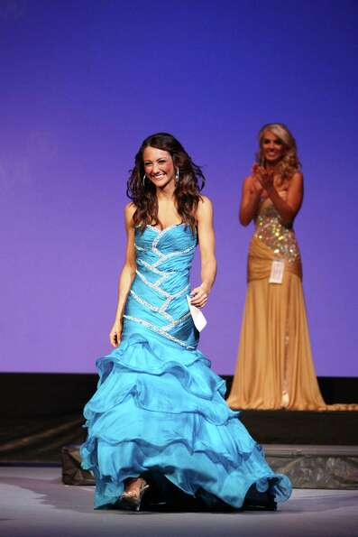 Miss Eastside USA Whitney Young is announced as a finalist during the Miss Washington USA and Miss T