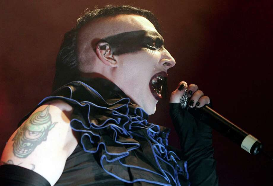 "Can anyone top the weirdness factor that  is Marilyn Manson ? The shock rocker made the music scene with one of the creepiest videos ever with ""Beautiful People"" and has been weirding people out ever since. Photo: MARKUS STUECKLIN, AP / KEYSTONE"