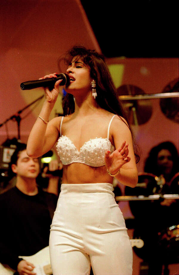 Selena performs at the Houston Livestock Show and Rodeo in 1995. Photo courtesy the Houston Chronicle. Photo: HOUSTON CHRONICLE