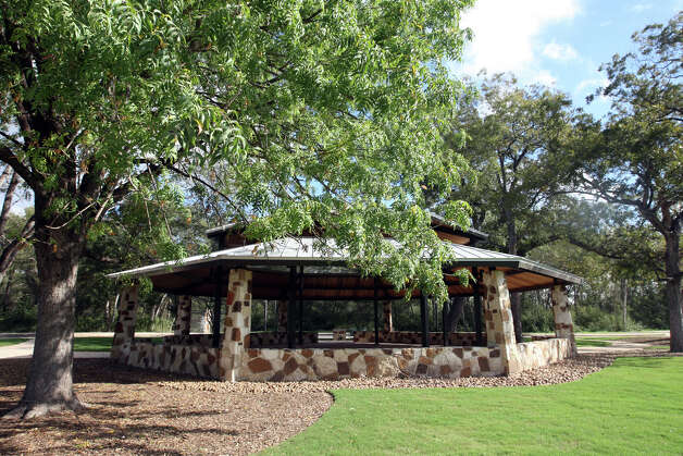 A cabana located near Espada Dam is part of the Mission Reach of the San Antonio River, Monday, Oct. 22, 2012. A part of the reach will open Tuesday with a larger section opening this coming Saturday. The cabana will be available to the public on a first-come basis. Photo: Jerry Lara, San Antonio Express-News / © 2012 San Antonio Express-News