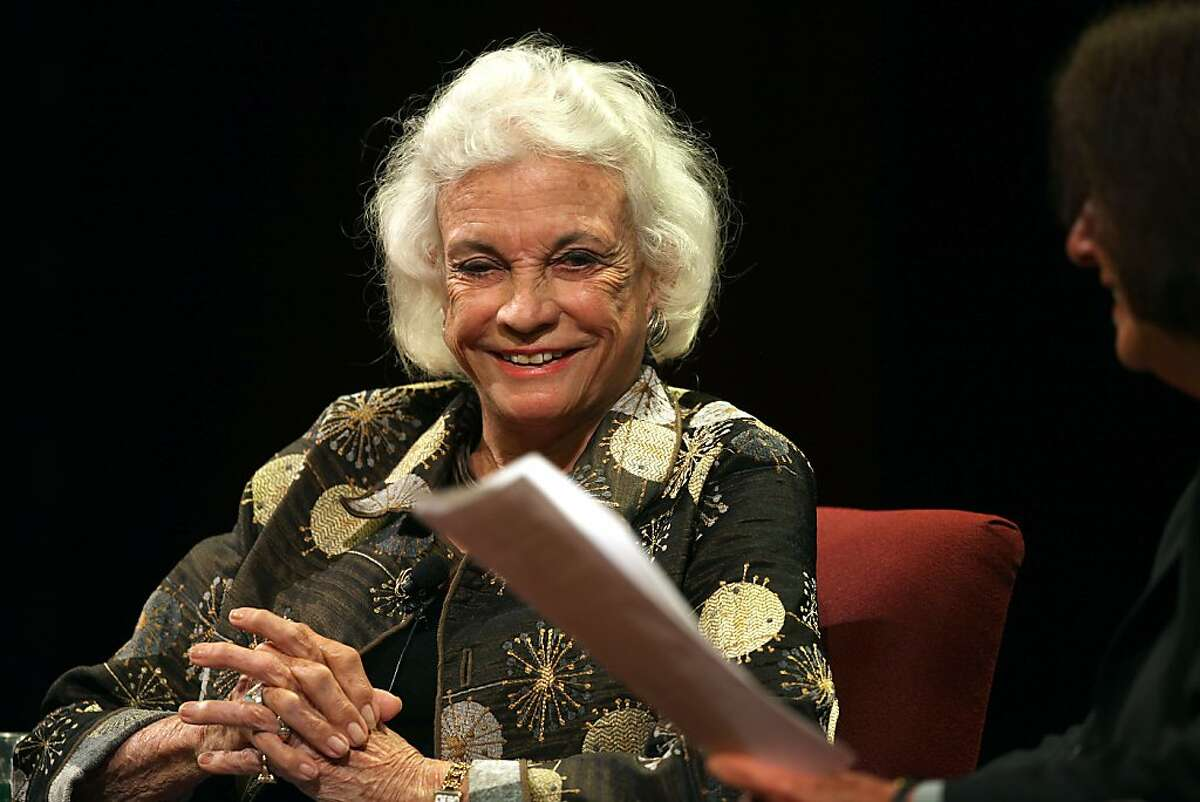 Retired United States Supreme Court justice Sandra Day O'Connor speaks at Herbst theater in San Francisco, Calif., on Monday, October 22, 2012.