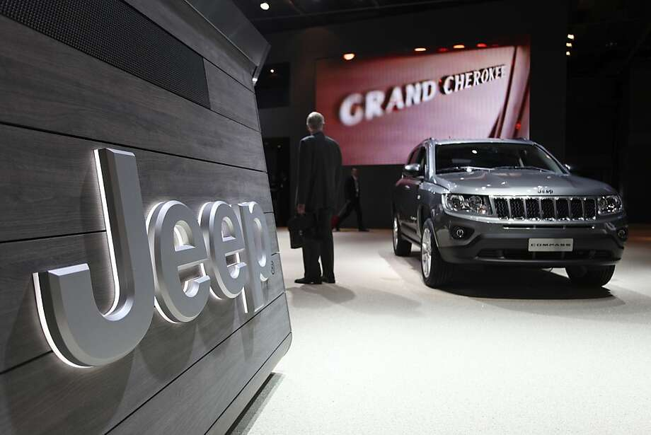 Chrysler shows off the Jeep Compass SUV at a Paris auto show last month. Photo: Balint Porneczi, Bloomberg